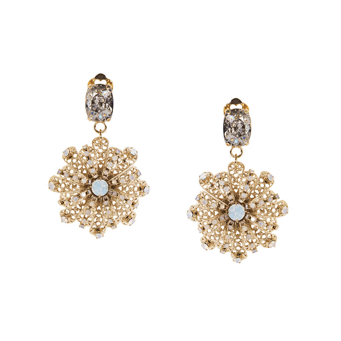 vittorio ceccoli jewelry design winter tale snowflakes earrings jewel light gold