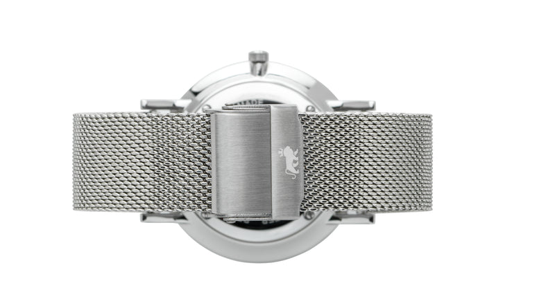 16mm Silver Milanese Strap