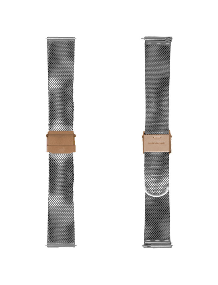 20MM SILVER/ROSEGOLD MILANESE STRAP