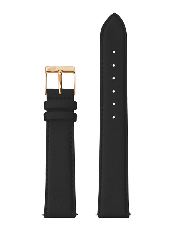 18mm Black Strap with Rose Gold Buckle