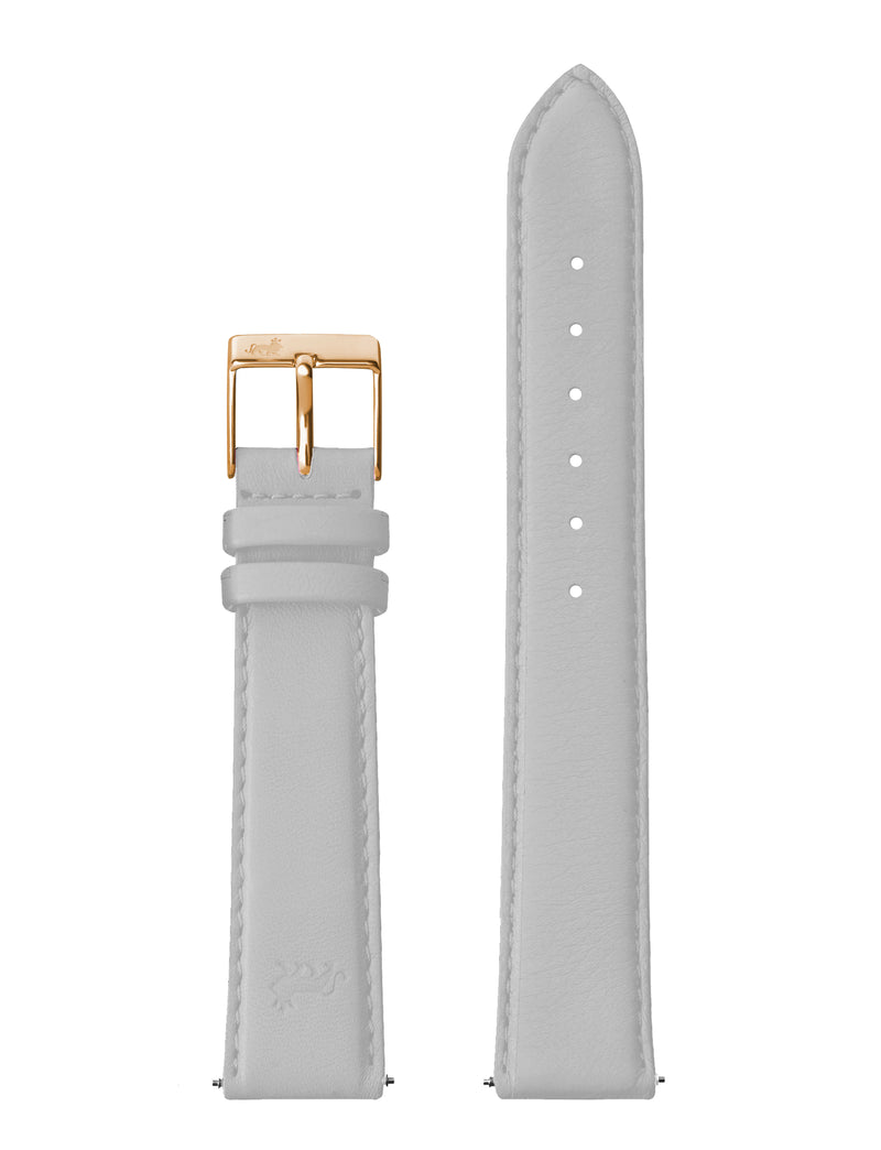 18mm Light Grey Strap with Rose Gold Buckle