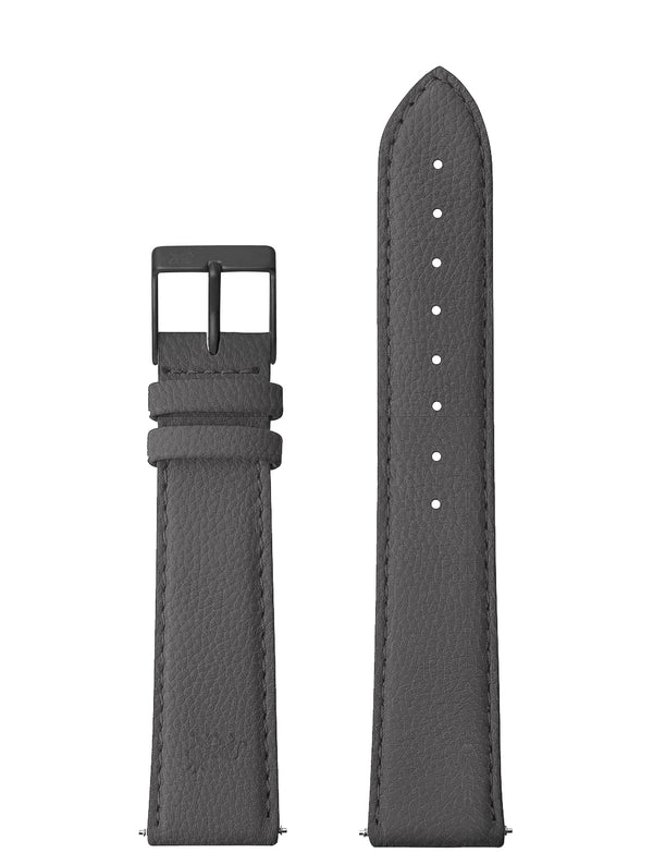 18mm Charcoal Grey Strap with Black Buckle