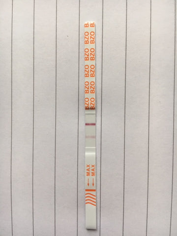 faint line on a drug test strip