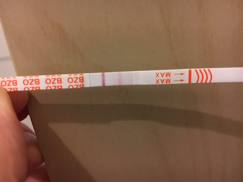 Faint line on a drug test strip for Benzodiazepines BZO what does it mean