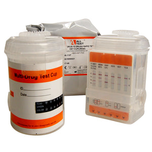 ALLTEST 10 drug rapid cup test dual chamber key cup drug test