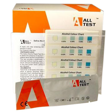 Alcohol test strips for saliva ALLTEST