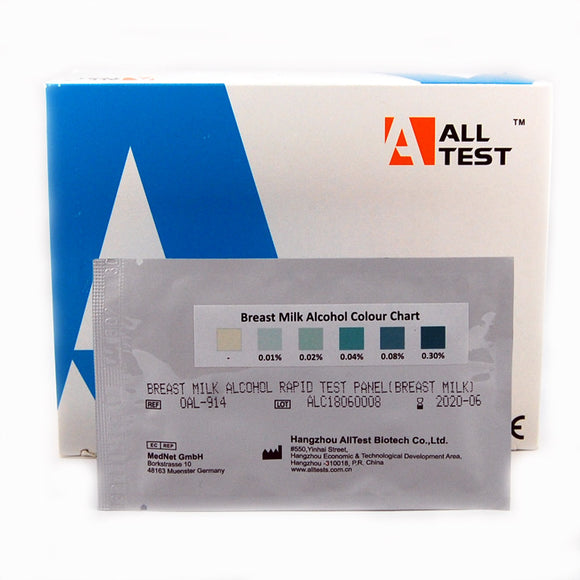 Breast milk alcohol testing kits