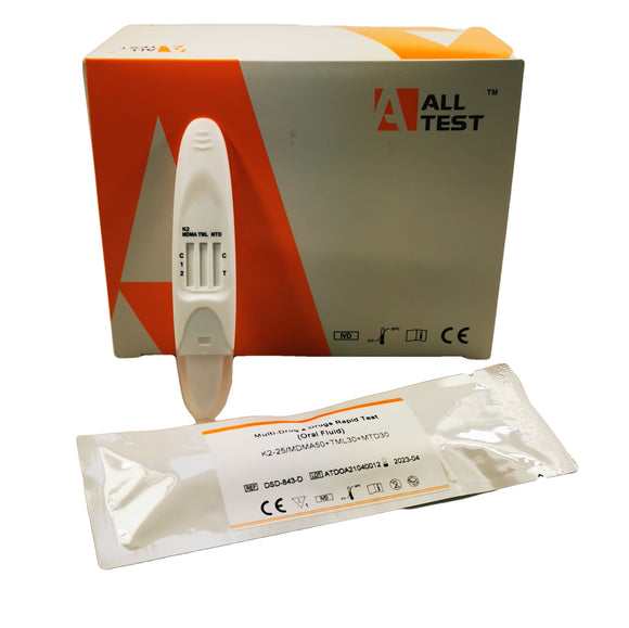 ALLTEST 4 Panel Drug Direct Saliva Drug Testing Kit DSD-843/K2