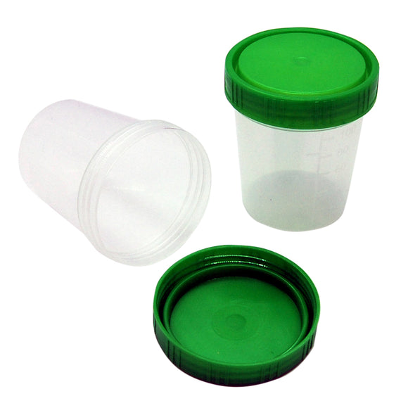 sample collection cups with lids