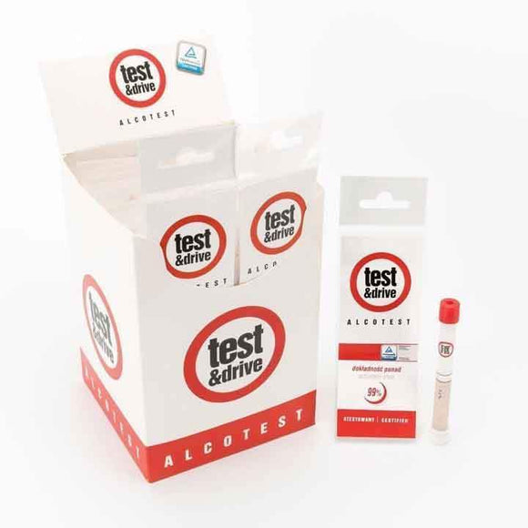 Test & Drive single use breathalyser kits bulk pack