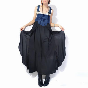 Fashionable Chiffon Loose Denim Dress