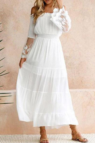 Collarless  Plain Maxi Dresses