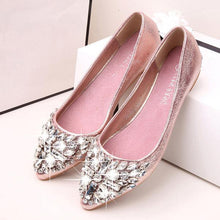 Fashion Rhinestone Pure Color Flat Shoes