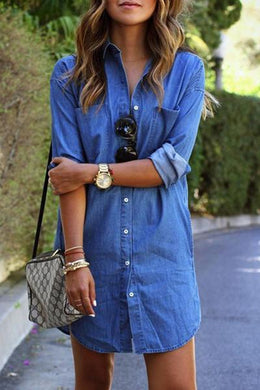2019 New Style Denim T-Shirt Dress