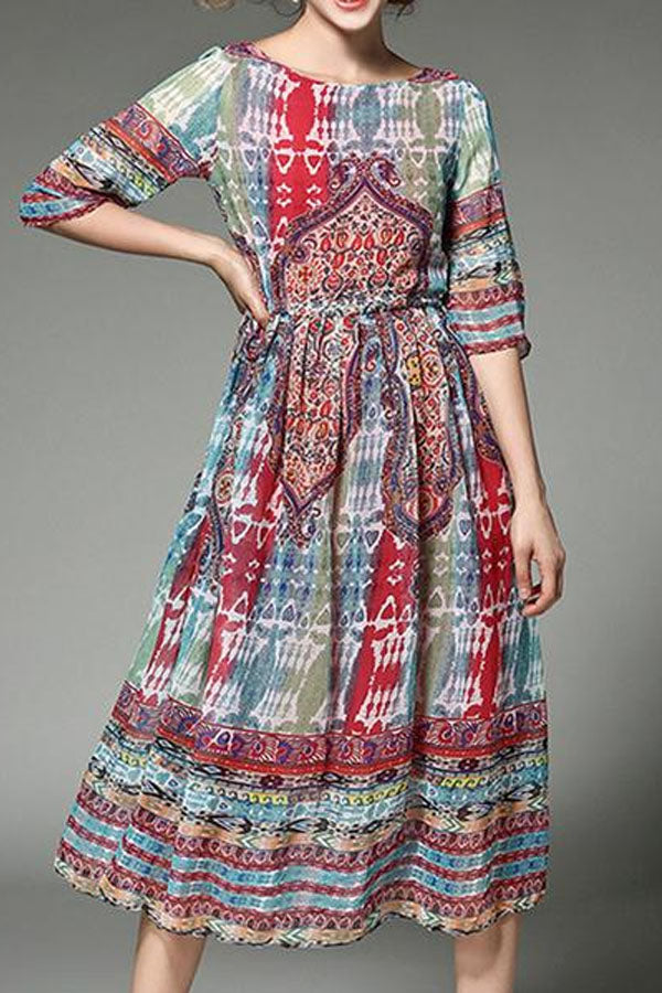 Bohemian Chiffon Maxi Dress