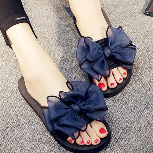 Flat  Peep Toe  Casual Slippers
