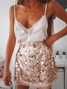 Mini Sequin Skirts