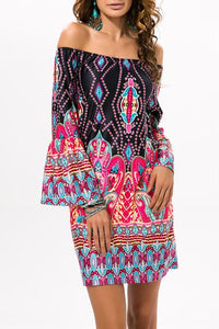 Elegant Printed Vacation Dress