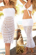 Hollow Knitted Mesh Coverall Bikini Sunscreen Beach Skirt Dress