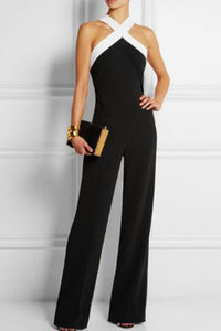 Black Velvet Push Up Wide Leg Jumpsuit