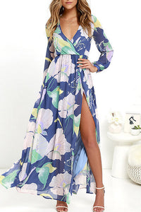 Chiffon Long Sleeve Maxi Dresses