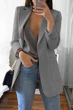 Solid Color Long-Sleeve Pocket Suit