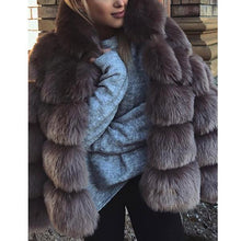 Women's Autumn And Winter Thick Warm Wool Fur Coat Long-Sleeved Hooded Imitation Rabbit Fur Coat