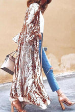 Autumn And Winter   Fashion Printed Long Coat