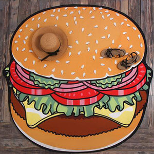 Distinctive Hamburger Printed Beach Towel