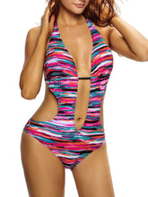 Halter  Exposed Navel One Piece