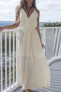 Spaghetti Strap  Backless  Plain Maxi Dresses