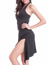 Solid Halter Skirted One Piece