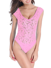 See-Through Lace Deep One Piece