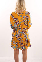 V Neck  Floral Printed Casual Dresses