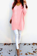 V Neck  Loose Fitting  Plain Sweaters