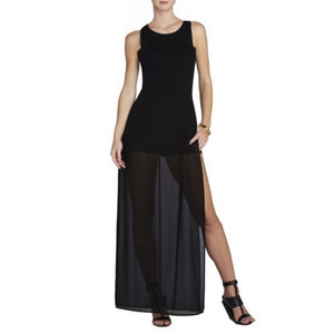 Vest Side Split Skirt Jumpsuit