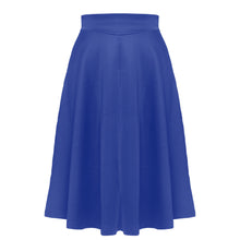 Solid-Color High Waist Big Swing Skirt