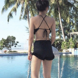 Sexy Black High Waist Bikini Set