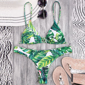 Summer Green Printed Swimsuit