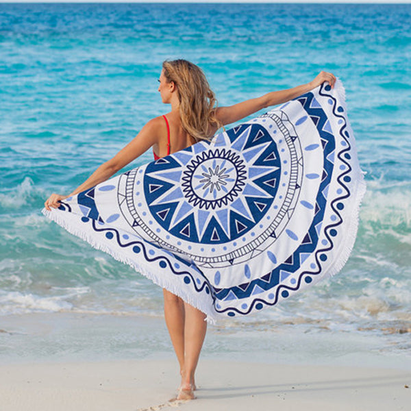 Round Beach Towel Shawl