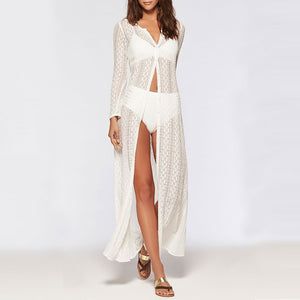 Lace Beach Cardigan Bikini Long Dress