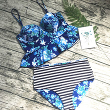 High Waist Printed Bikini Set