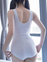 Round Neck  Scoop Back  Plain One Piece