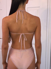 Tie Collar  Backless  Embroidery One Piece