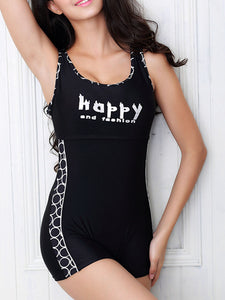 Scoop Neck  Scoop Back  Letters One Piece