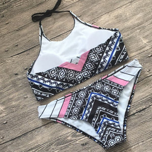 Digital Printing Halter Bikini Set