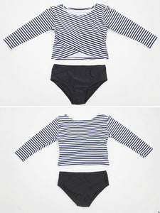 Surplice  Striped Bikini