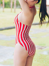 Crew Neck  Striped One Piece