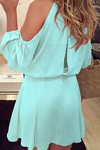 Round Neck  Backless  Plain Casual Dresses
