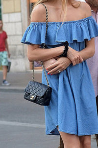 Off Shoulder  Backless Casual Dresses